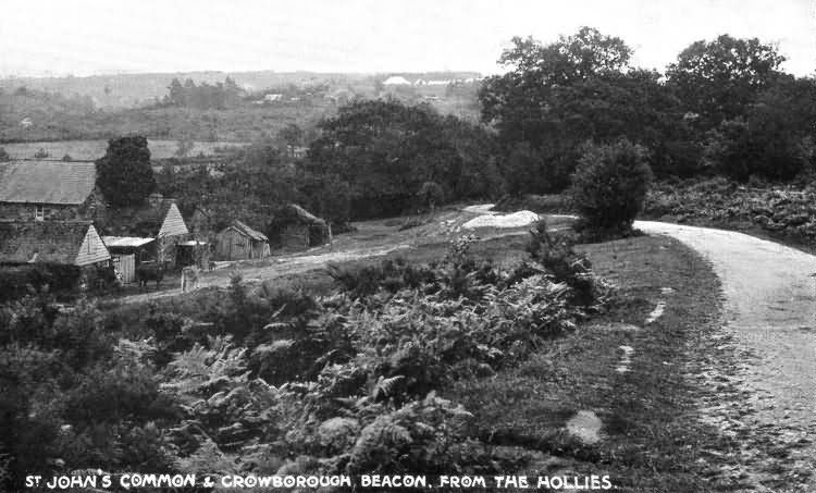 St Johns Common & Crowborough Beacon, from The Hollies - 1910