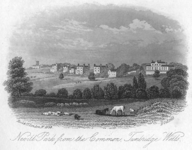 Nevill Park from the Common - 15th Oct 1860