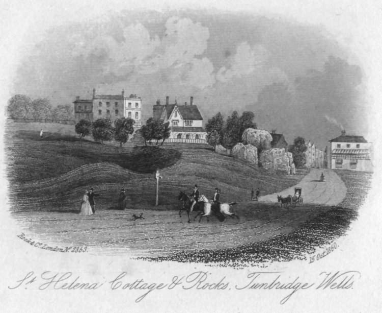 St Helena Cottage & Rocks - 15th Oct 1860
