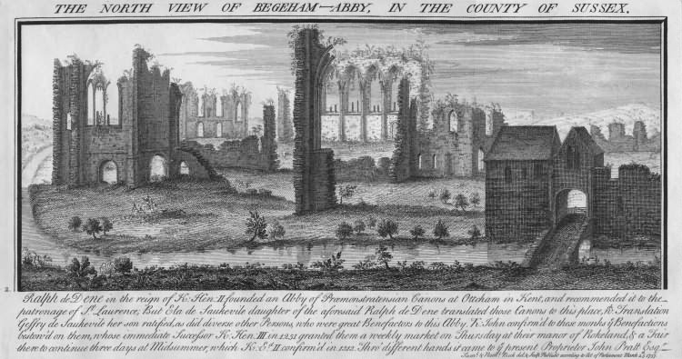 North View of Begeham Abbey - 27th Mar 1737
