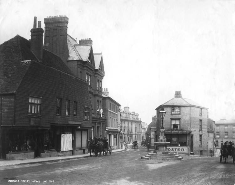 The High Street and London Road - 1890