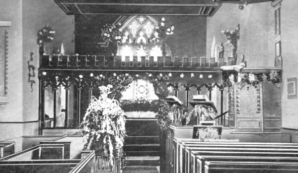 Cowden Church Interior - c 1880