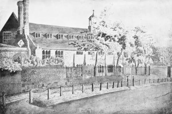 Tonbridge School from 1760 to 1825 - Front View - 1768