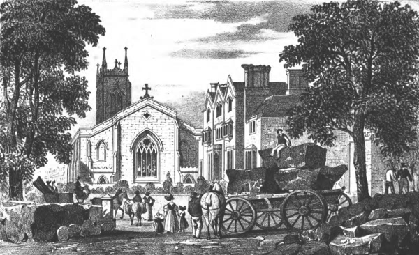 Church and Priory Houses - 1831