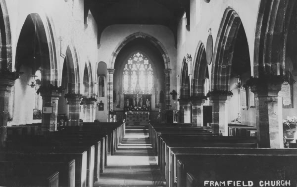 Interior, Framfield Church - 1907