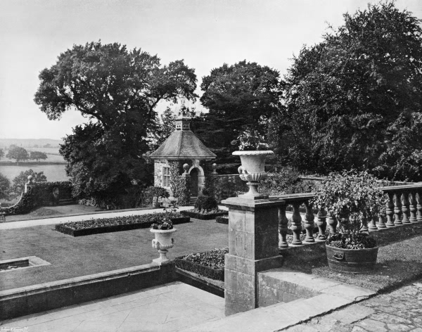 On the Paved Terrace, Rotherfield Hall - 1909