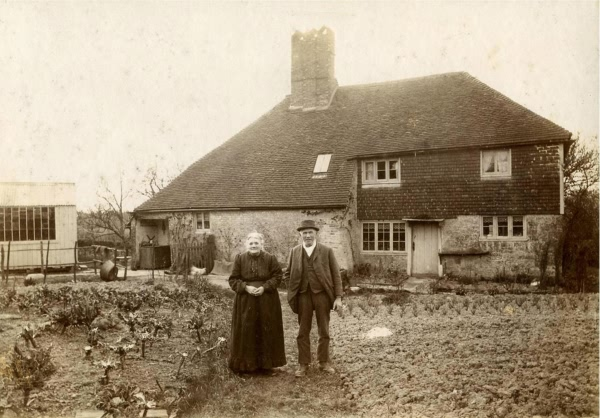 Alfred and Mary Jane Marchant, Sandhill Farm, Jarvis Brook - c 1910