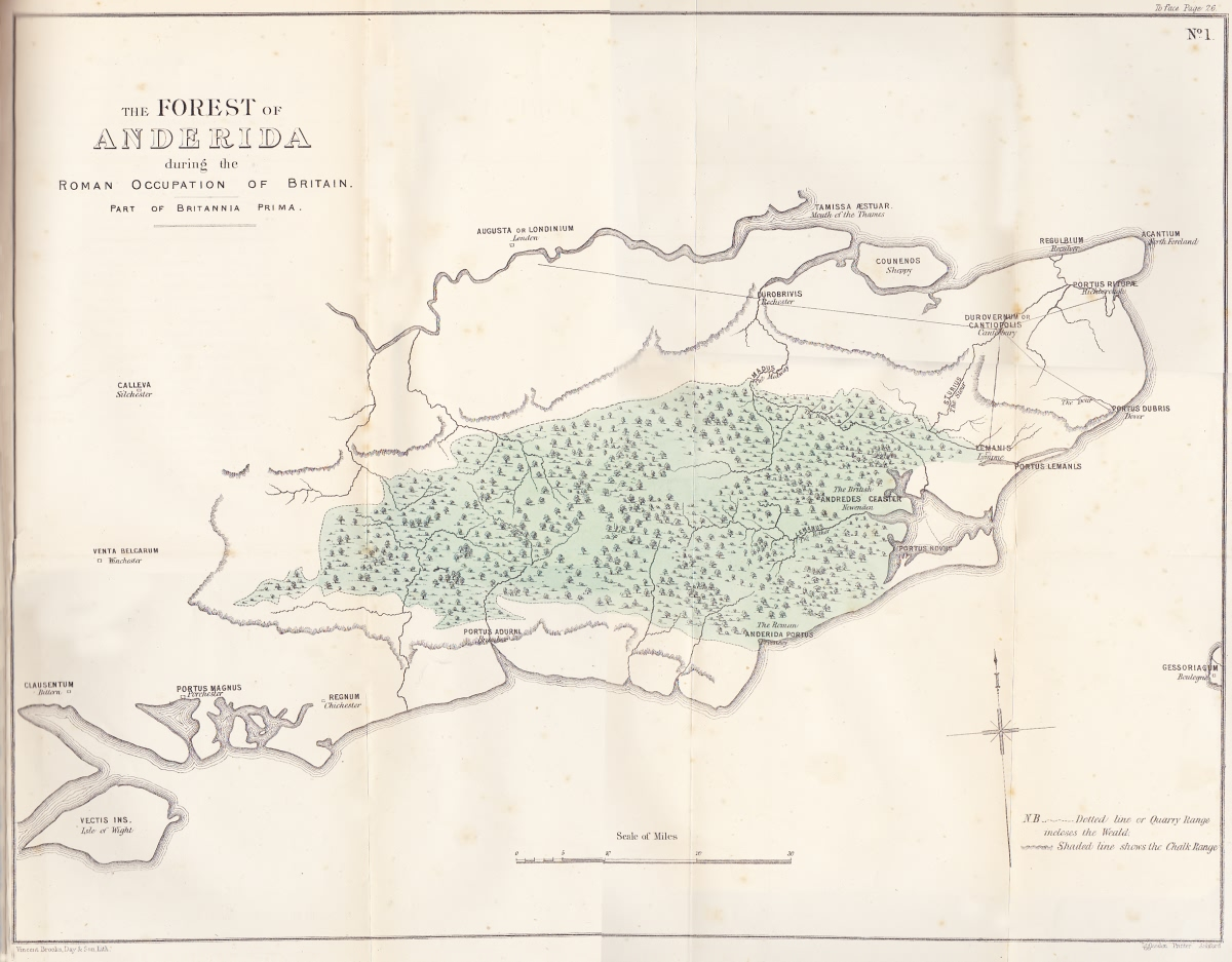 The Forest of Anderida during the Roman Occupation of Britain - c 500