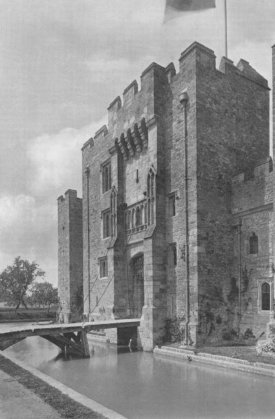 The Drawbridge, Hever Castle - 1907