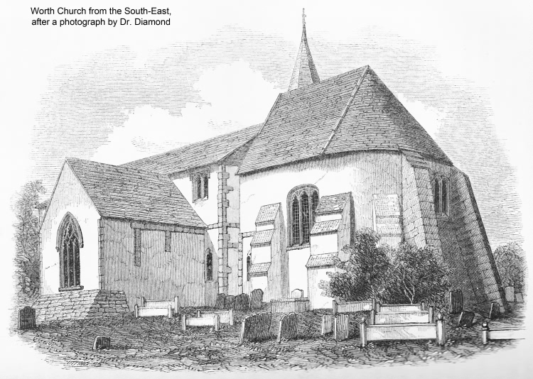 Worth Church from the South-East - 1856
