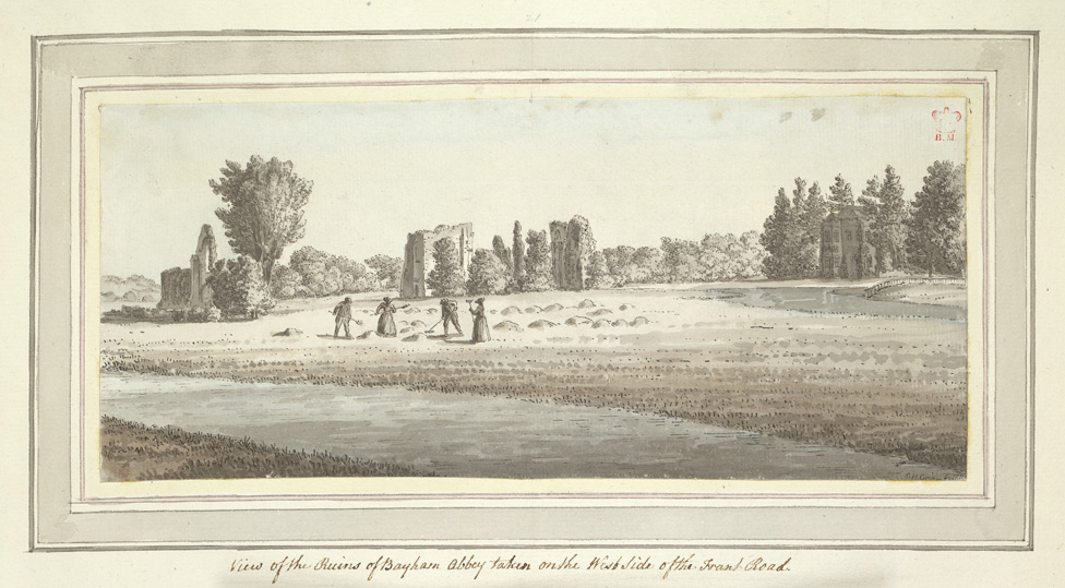 View of the Ruins of Bayham Abbey taken on the West Side of the Frant Road - 1773