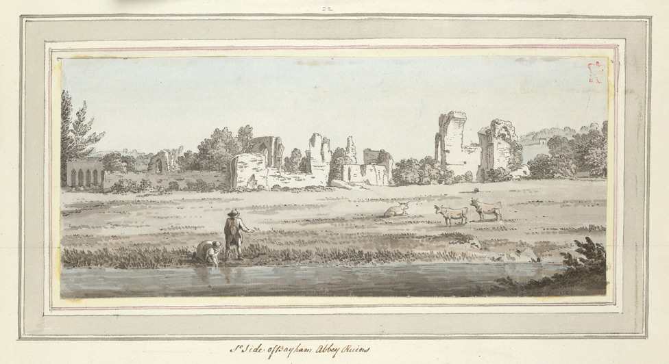 South Side of Bayham Abbey Ruins - 1773
