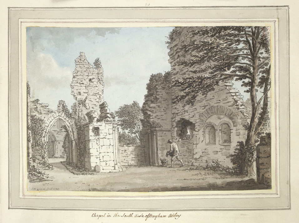 Chapel in the South Aisle of Bayham Abbey - 1773