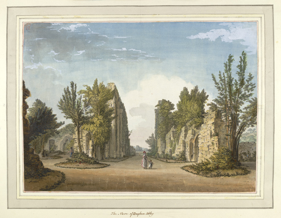 The Nave of Bayham Abbey - 1773