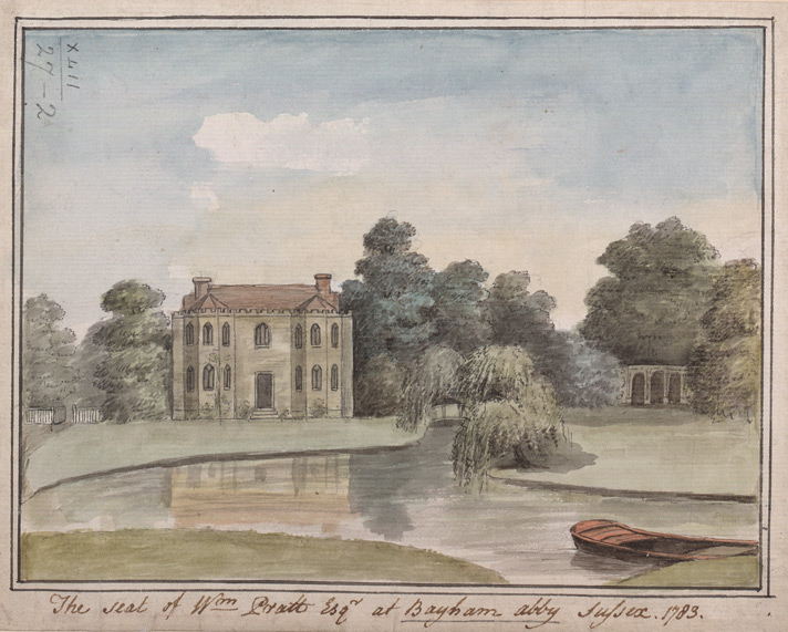 The seat of W<sup>m</sup> Pratt Esq<sup>r</sup> at Bayham Abby, Sussex, 1783 - 1783