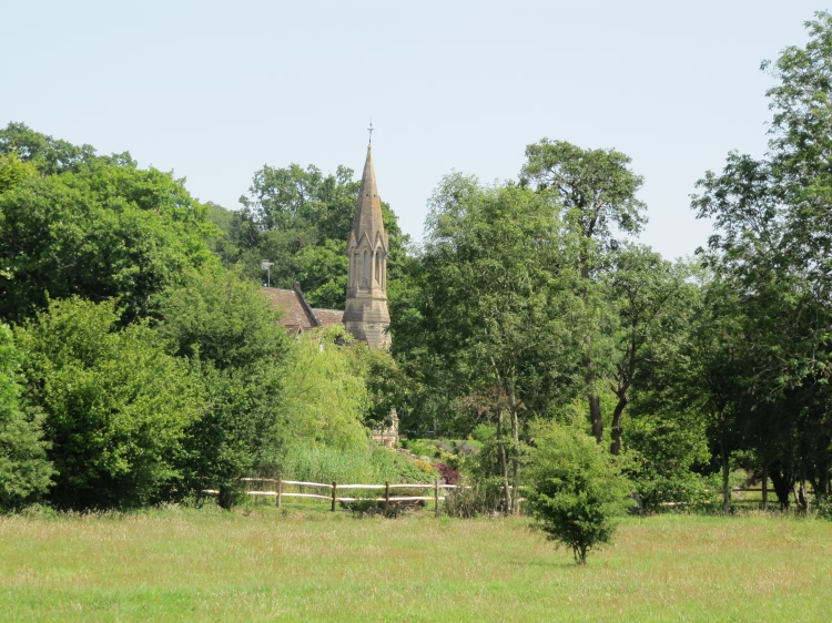 Bayham Church from Bayham Abbey - 2011