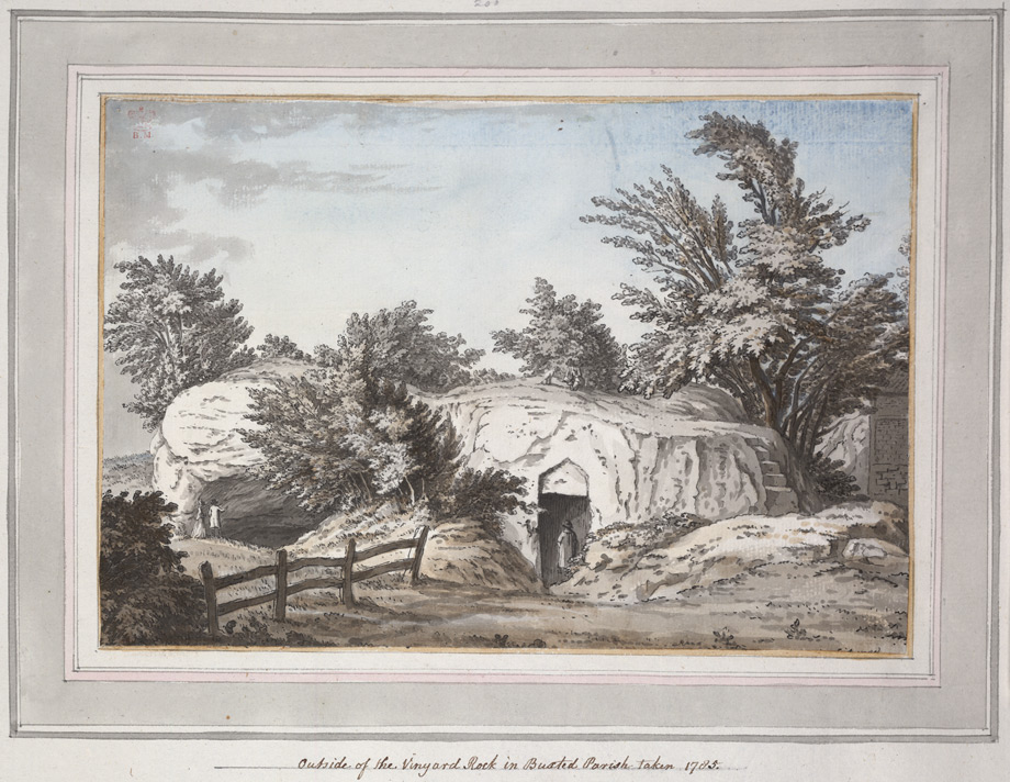 Outside of the Vineyard Rock in Buxted Parish - 1785