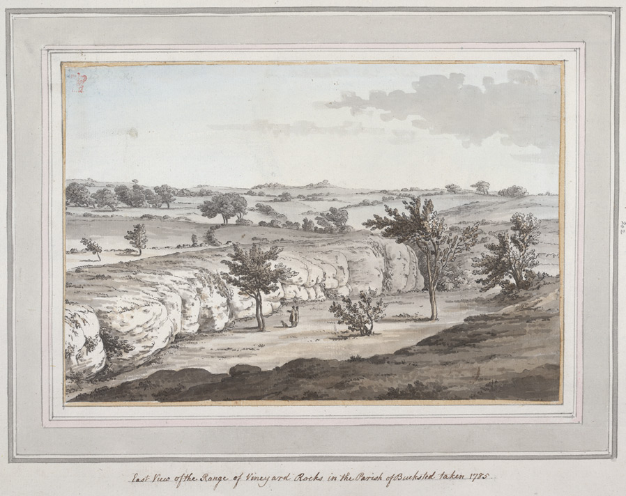 East View of the Range of Vineyard Rocks in the Parish of Buxted - 1785
