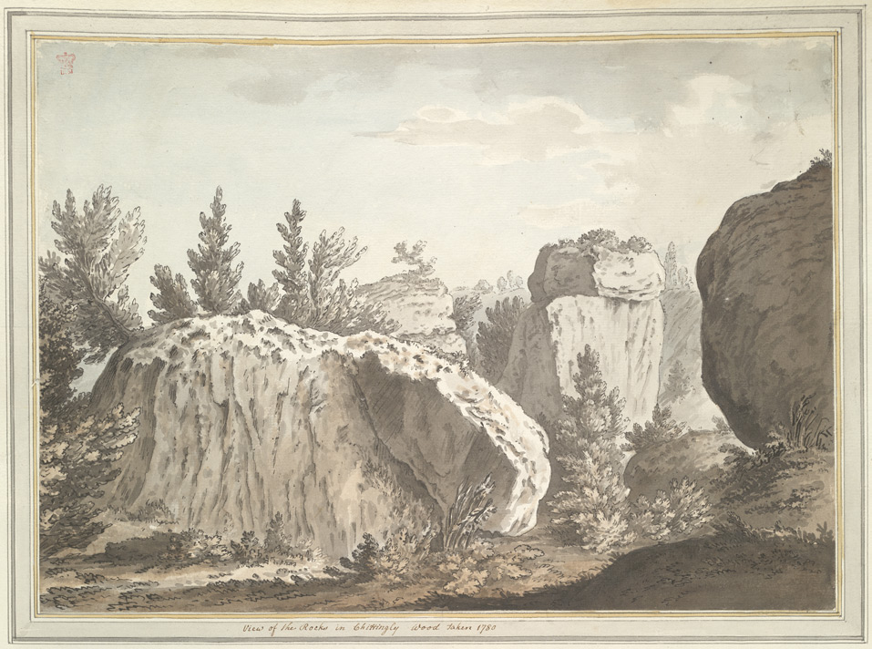 View of the Rocks in Chiddingly Woods - 1780