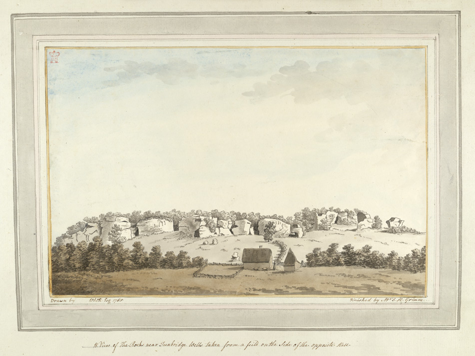 A View of the Rocks near Tunbridge Wells taken from a field on the side of the opposite Hill - 1785