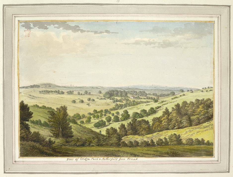View of Eridge Park and Rotherfield from Frant - 1784