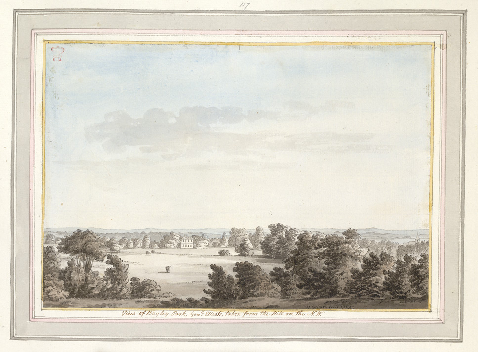 View of General Elliotts Bayley Park from the Hill on the North West - 1784
