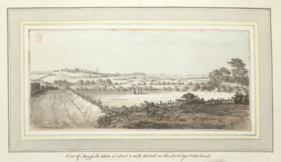 View of Mayfield taken at around a mile distant on the Tunbridge Wells Road - 1783