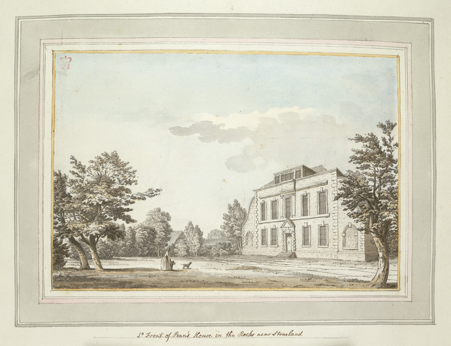 South Front of Penns House in the Rocks near Stoneland - 1773