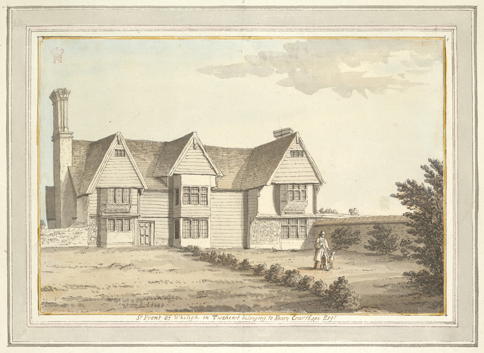 South Front of Whiligh in Ticehurst belonging to Henry Courthope Esq. - 1784