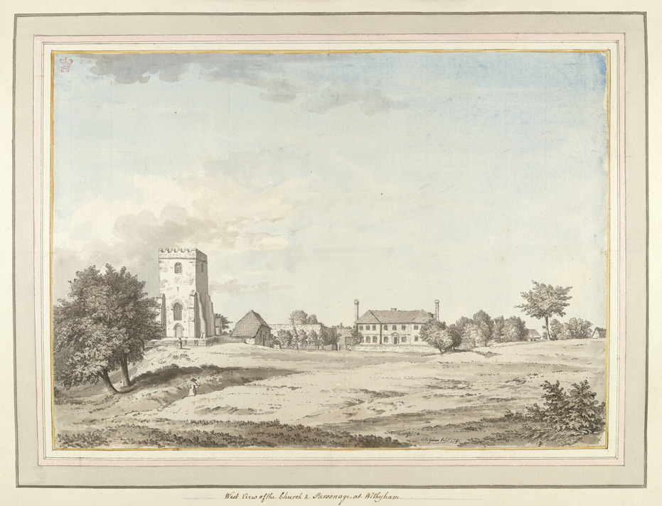 West View of the Church and Parsonage at Withyham - 1783