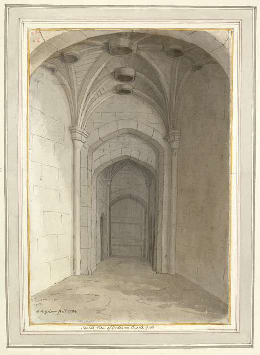 Inside View of Bodiham Castle Gate - 1784