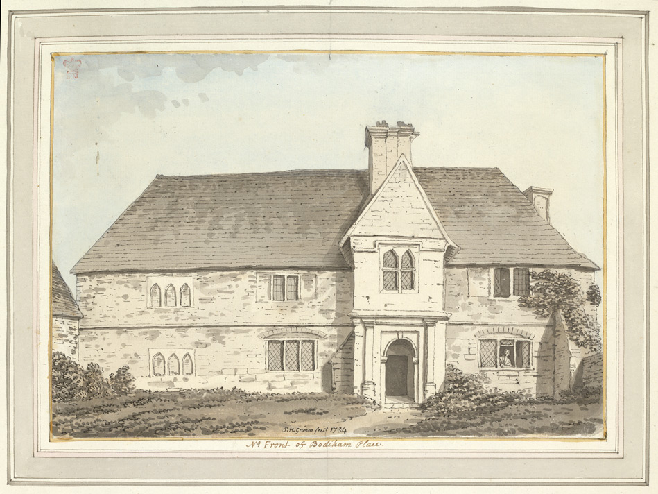 North Front of Bodiham Place - 1784