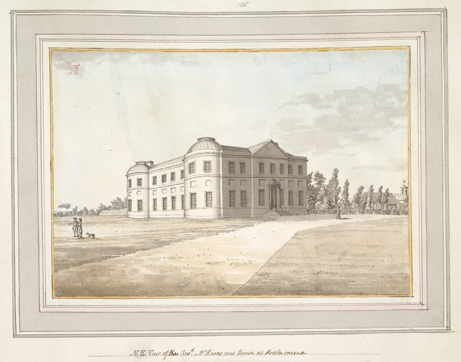 North East View of the Rev Mr Hares new House at Herstmonceux - 1773