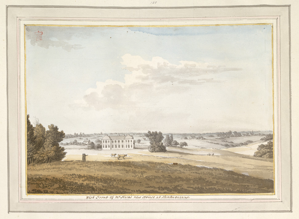 West Front of Mr Hares new House at Herstmonceux - 1783
