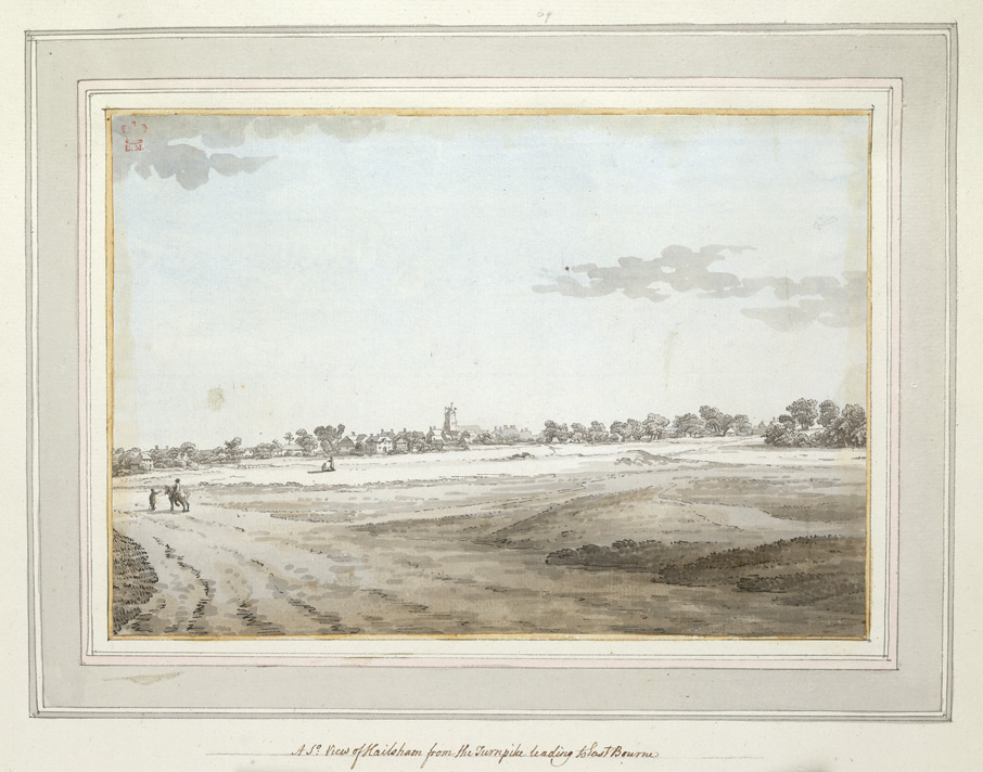 A South View of Hailsham from the Turnpike leading to Eastbourne - 1773