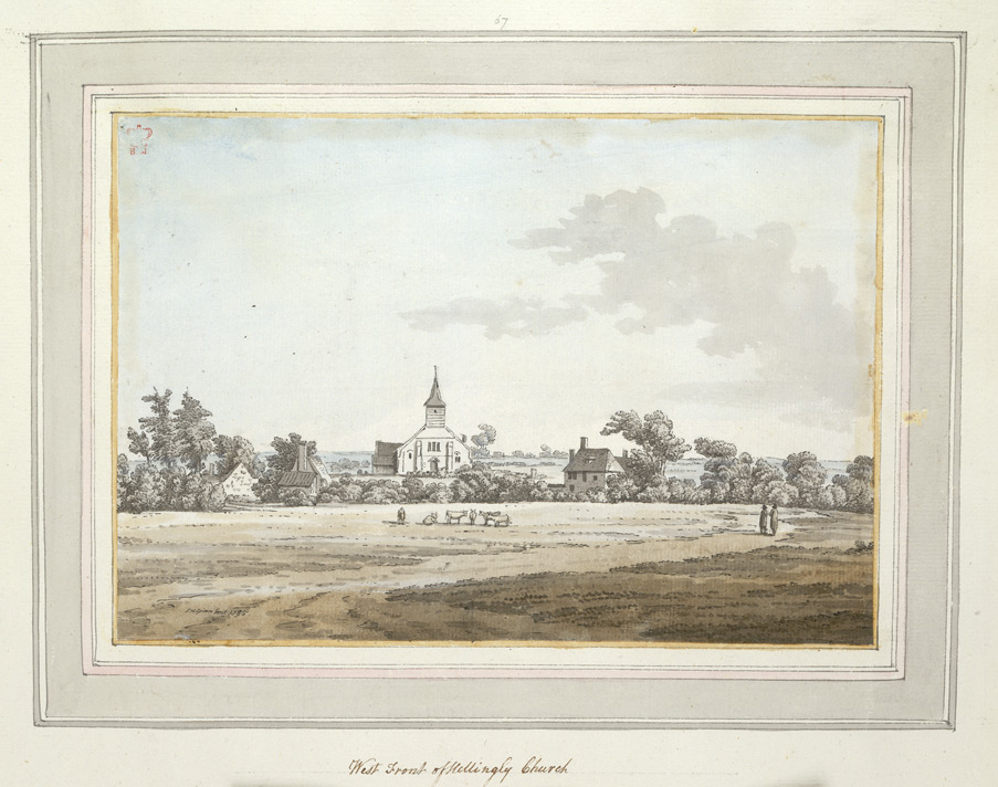 West Front of Hellingly Church - 1785