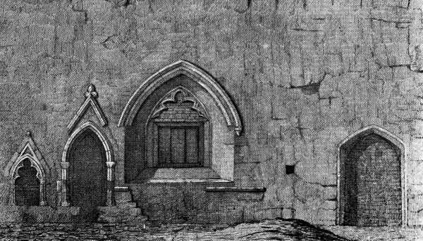 South Wall of Chapel, Otham - 1901
