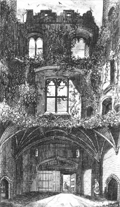 Interior of Porters Lodge and Gateway Tower - 1851