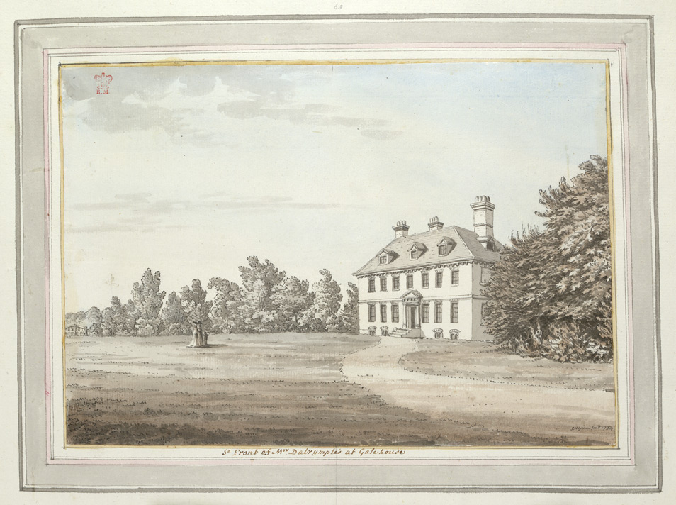 South Front of Mrs Dalrymples House at Gatehouse - 1784