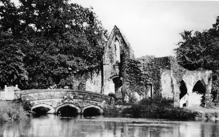 Monks Bridge, Bayham Abbey - c 1900