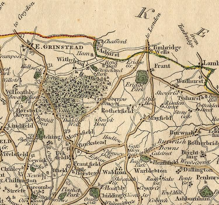 [North] Sussex by John Cary - 1st Sept 1787