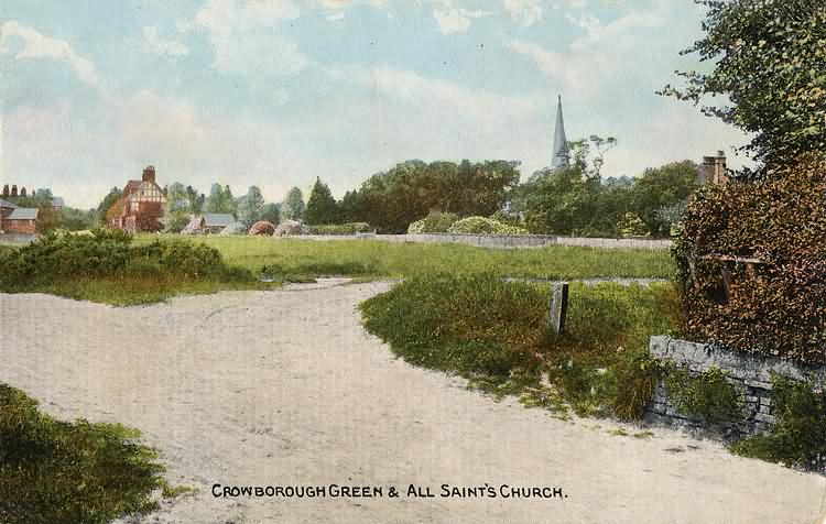 Crowborough Green and All Saints Church - c 1920