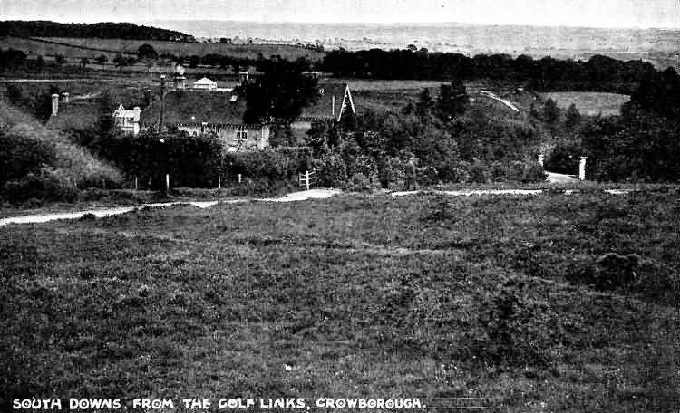 South Downs from the Golf Links - 1920