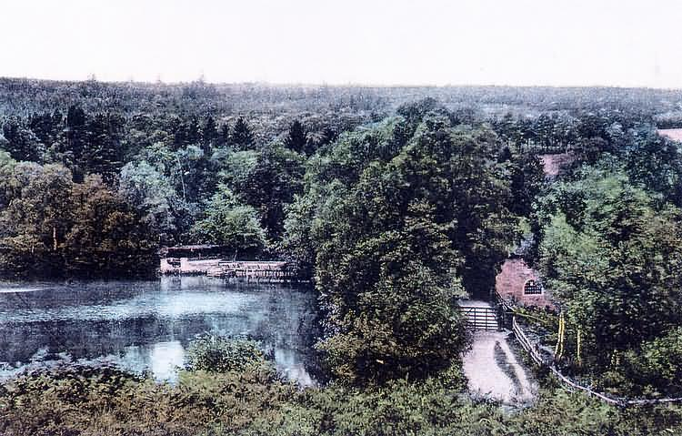 New Mill and Lake, The Warren - 1910