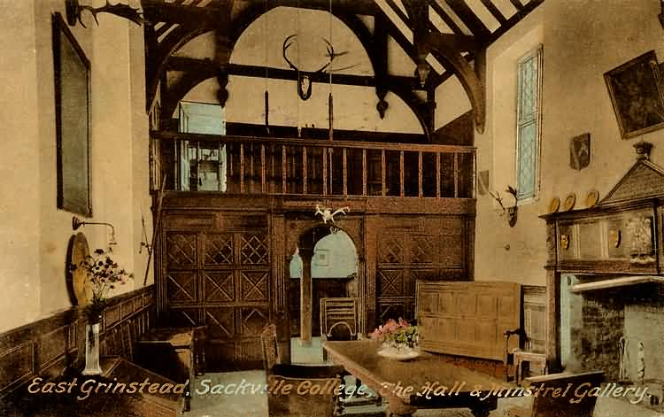 The Hall and Minstrel Gallery, Sackville College - 1936