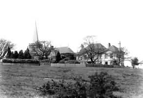 All Saints Church and Vicarage - 1900
