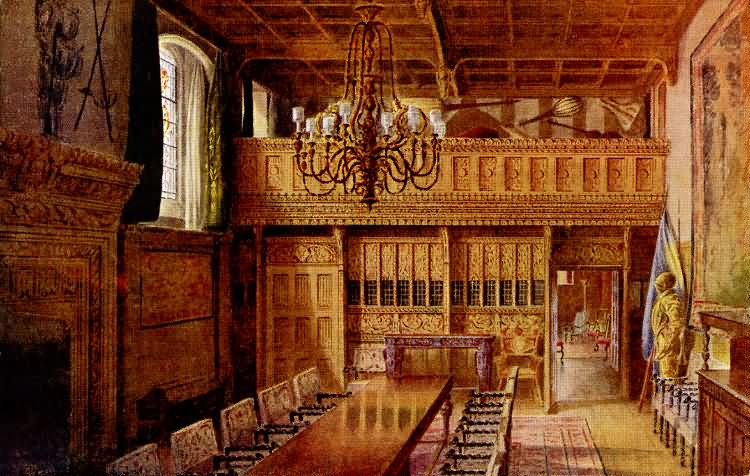 banqueting hall hever castle 1910