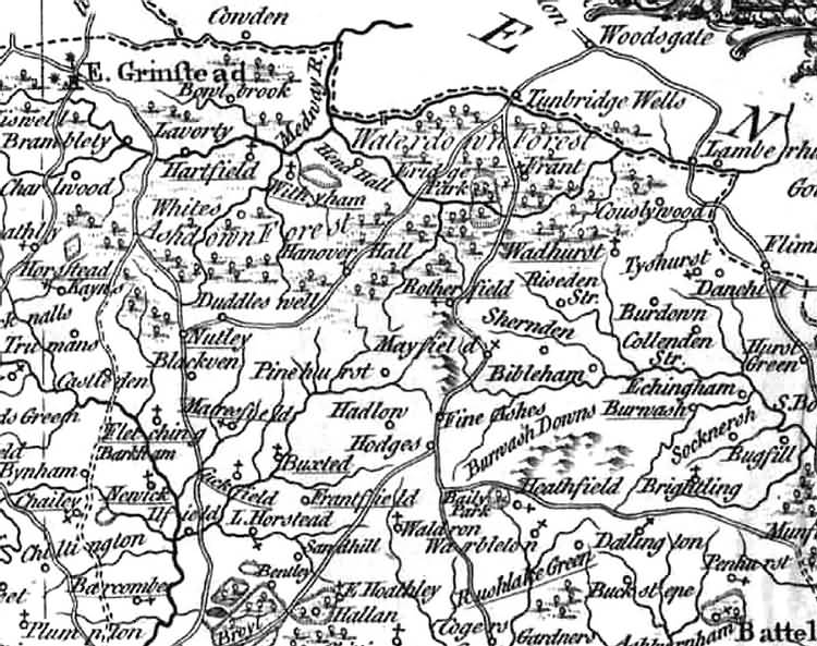 A New Map of [North] Sussex by Thomas Kitchin - 1763