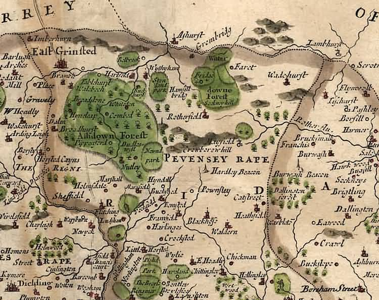 [North] Sussex by Robert Morden - 1695