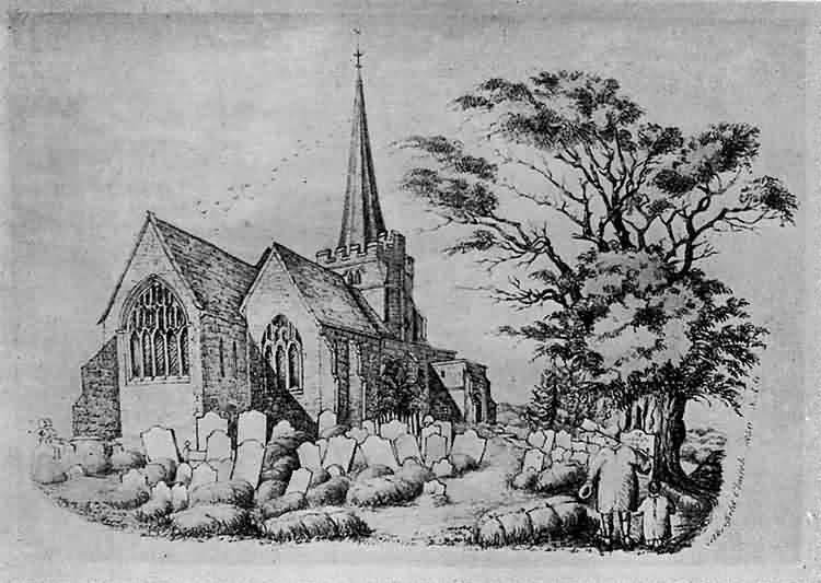 View of St Denys Church - 1850